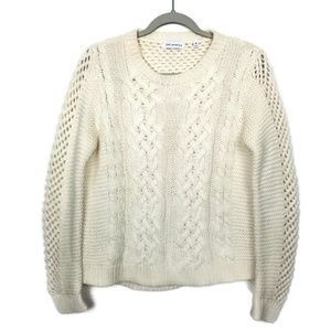 525 America | cable knit | open weave | cream